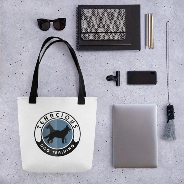 Tenacious Dog Training tote bag